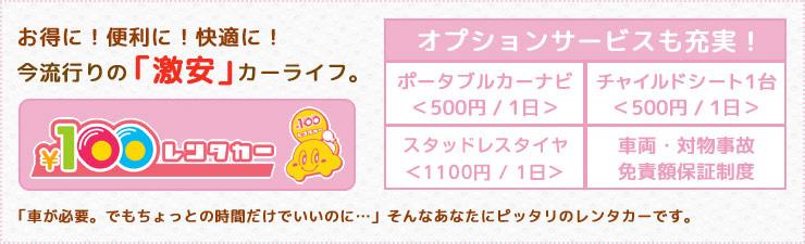 ¥100レンタカー